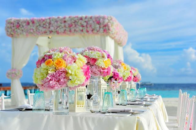 table de mariage deco theme marin
