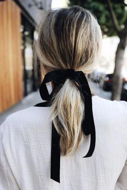 Ribbon Ponytail Short cute Hairstyle