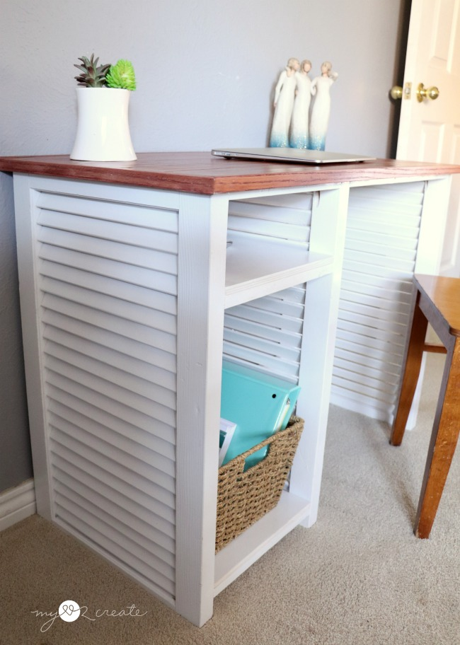 Repurposed Shutter Desk My Love 2 Create