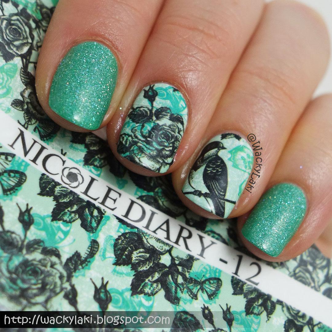 Wacky Laki: Glam Polish Enchanted Forest plus Nicole Diary Decals