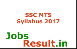 SSC MTS Syllabus 2017