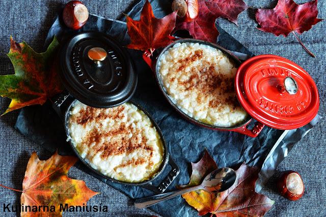 Ryż z jabłkami zapiekany w piekarniku