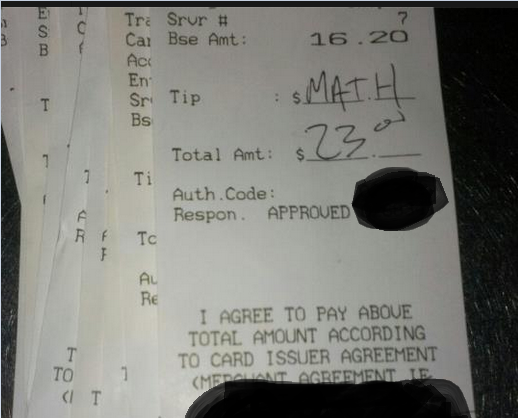 Funny Picture - Can't work the tip? Restaurant