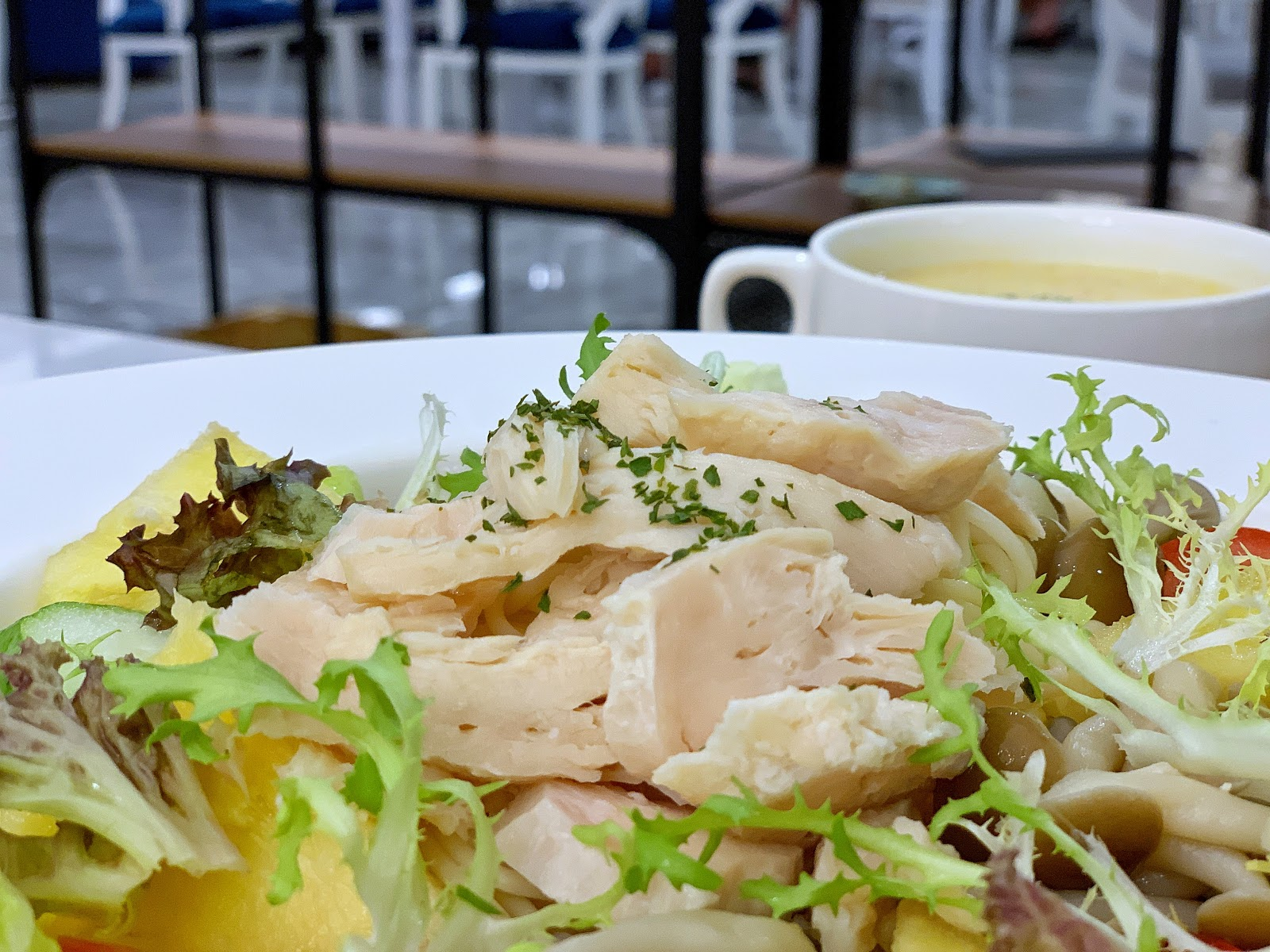 台南美食三皇三家金華店餐點義式雞肉天使冷麵