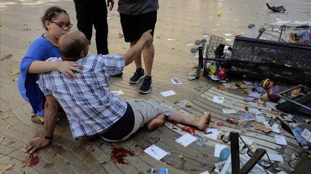 Αποτέλεσμα εικόνας για τραυματίες από το μακελειό στη Βαρκελώνη