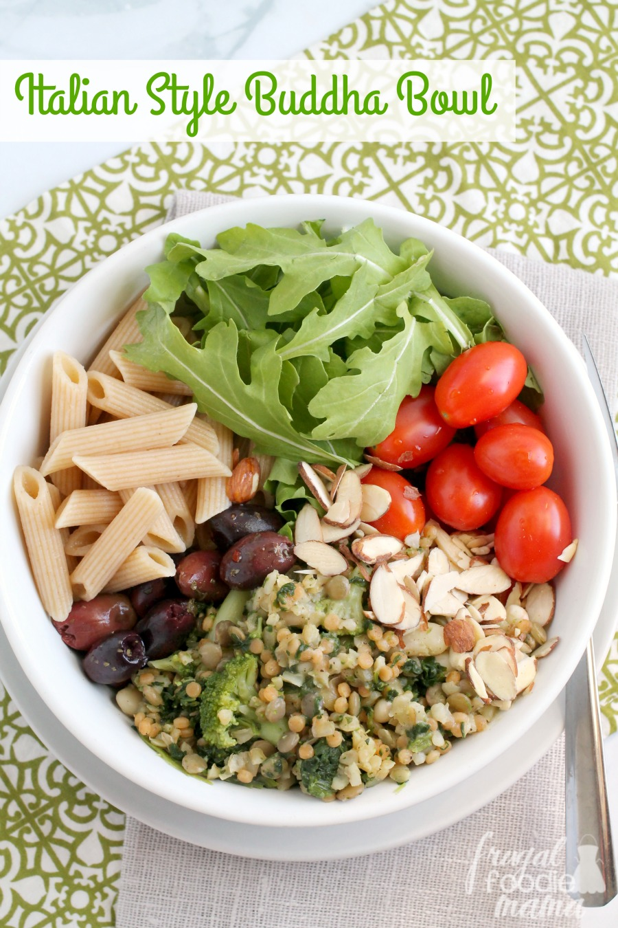 Frugal foodie mama italian style buddha bowl this easy to make italian style buddha bowl is a protein packed family pleasing weeknight forumfinder Image collections