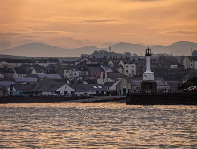 Photo of misty Maryport sunrise