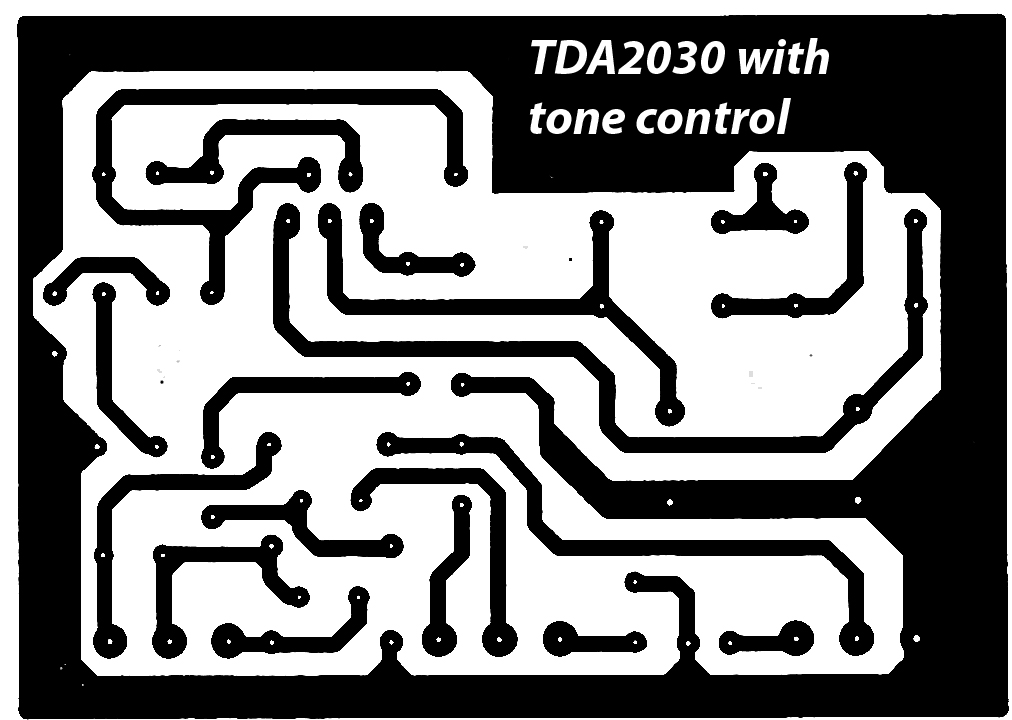 Tda2030 Power Amplifier Complete Tone Control Electronic Circuit