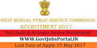 West Bengal Public Service Commission Recruitment 2017– 153 Audit and Accounts Service Recruitment Examination