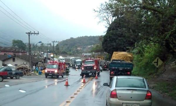 Acidente BR-280 em Guaramirim