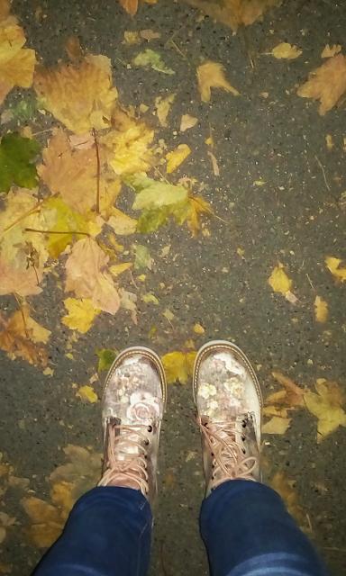 jesenje cvjetne, cipele, čizme, jesenske, autumn floral boots, vintage, deichmann