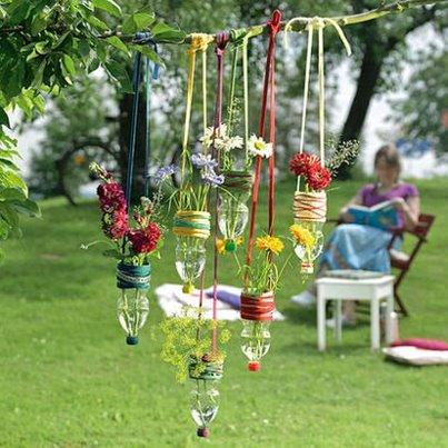 Giocabosco creare con gnomi e fate riciclare bottiglie di plastica for Articulos para decorar jardines