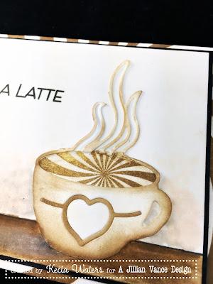 AJVD, Kecia Waters, coffee, latte, sponging, sunburst