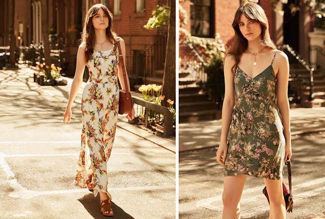 Девушки в платьях с цветочным принтом с различным контрастом по светлоте