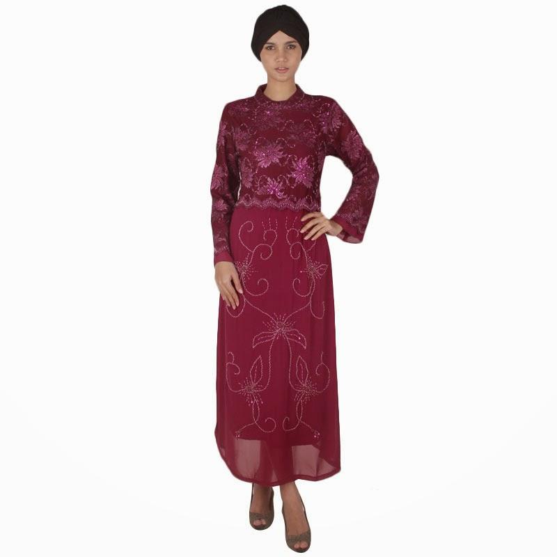 Dress Muslim Brokat Wanita Masa Kini