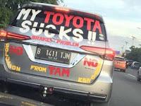 Viral Foto Toyota Fortuner Penuh Stiker Umpatan, Anda Bisa Menduga Kenapa?
