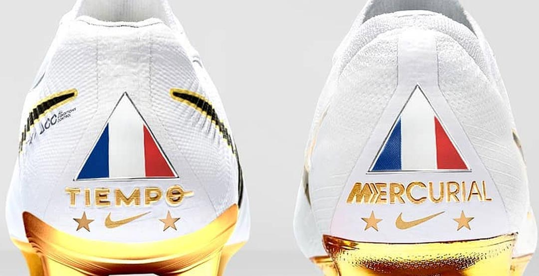 312969b6c ... cleats to celebrate France s 2018 World Cup title. Now it seems like  that Nike will release the white   gold boots as limited-edition boots  collection.