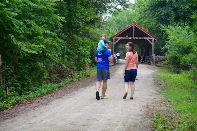 Hiking the Blue River Trail in Kansas. Image courtesy of Visit Marysville.
