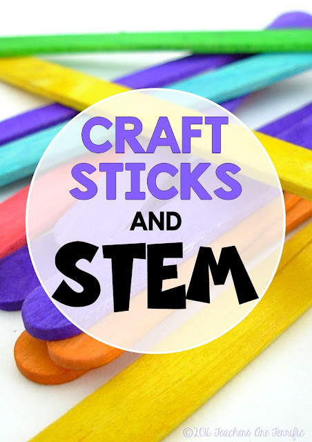 STEM Challenges: Gathering supplies for STEM seems daunting, but it really not! Just grab some craft sticks and kids will build about anything!