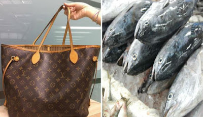 Kocak, Nenek Gunakan Tas Puluhan Juta untuk Wadah Ikan Segar
