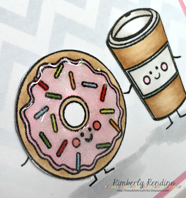 coffee lovers bloghop | lil inker designs | coffee | donut | handmade card | cardmaking | papercraft | kimpletekreativity.blogspot.com