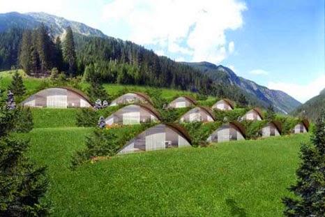 Image result for Rumah bawah Hotel ramah lingkungan Bella Vista