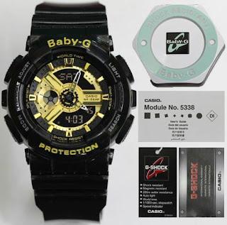Jam Tangan baby G hitam kombinasi