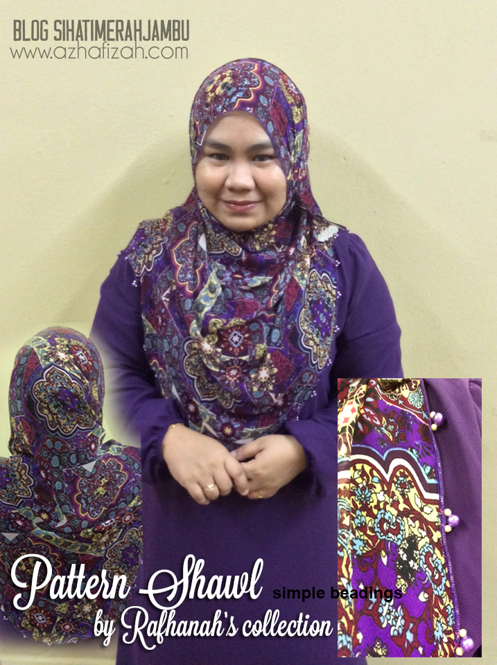 Custom Made Shawl  Murah by Rafhanah's Collection