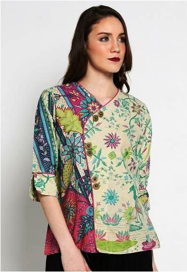 ッ 42+ model baju batik atasan wanita kerja lengan panjang ...