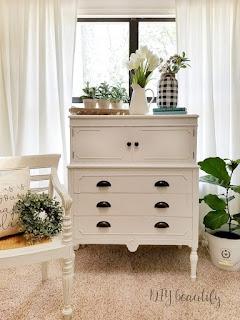 cottage white dresser