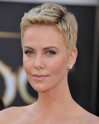 charlize theron Peinados modernos para mujer con cabello corto