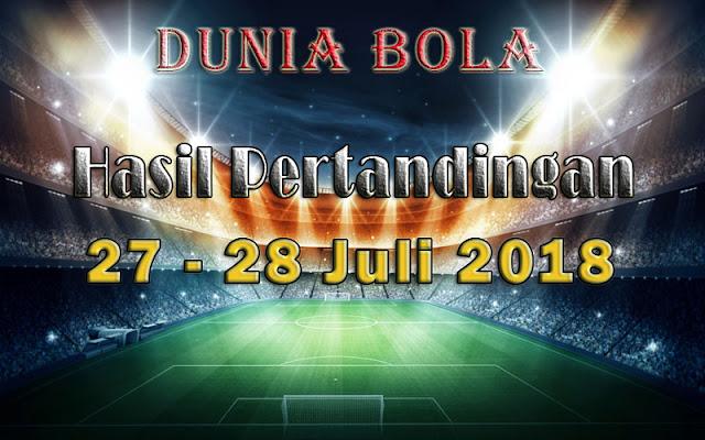 Hasil Pertandingan Sepak Bola Tanggal 27 - 28 Juli 2018