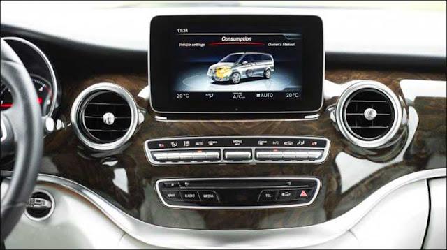 Mercedes V250 Avantgarde 2017 sử dụng Hệ thống giải trí tiên tiến và hàng đầu của Mercedes hiện nay