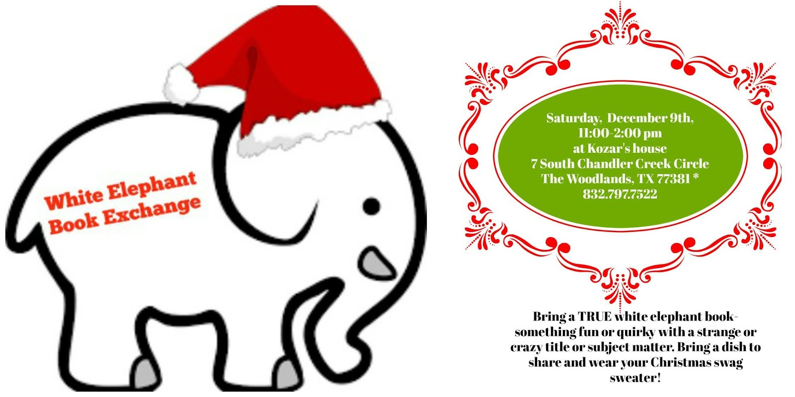 christmas 2017 white elephant book exchange - Christmas White Elephant