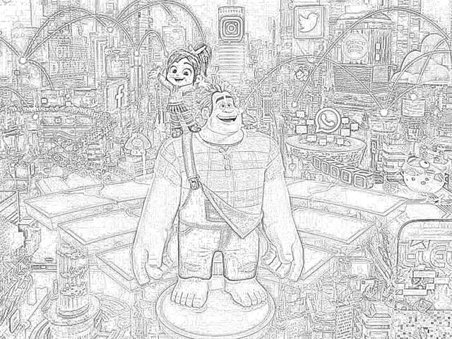 Coloring Pages: Ralph Breaks the Internet Coloring Pages ...