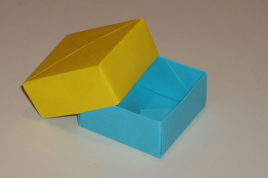 Origami Container With Lid