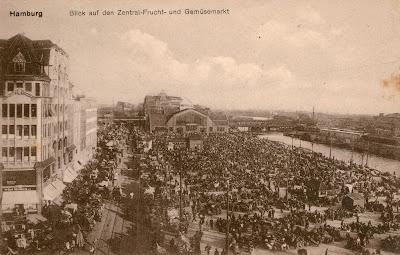 Mercado de frutas y hortalizas, Hamburgo, Alemania, años 20