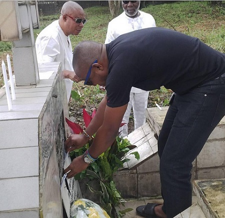 Actress Tonto Dikeh-Churchill Remembers Her Late Mother in Emotional Piece (See Graveside Photo)