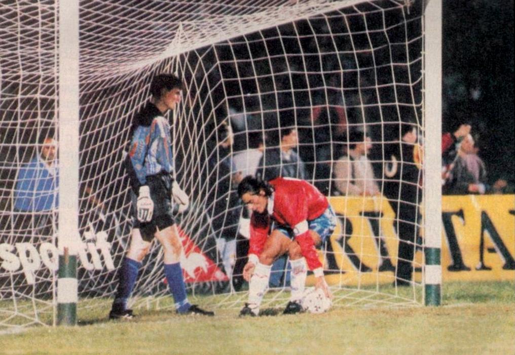 Chile e Islandia en partido amistoso, 22 de abril de 1995