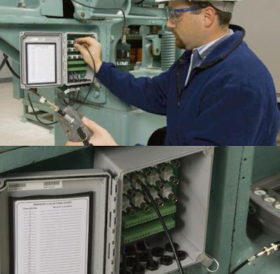 Cajas de toma de datos de sensores de vibración.