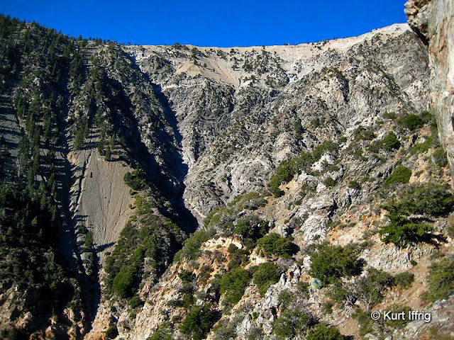 A view of the backbone of the ultra steep Mt. Baden Powell, near Big Horn Mine.