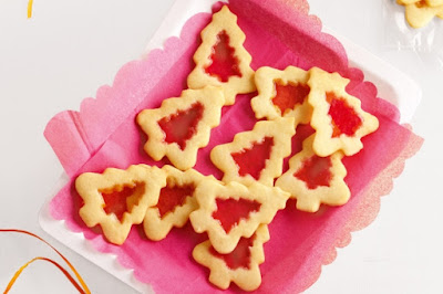 Stained-glass tree biscuits Recipe