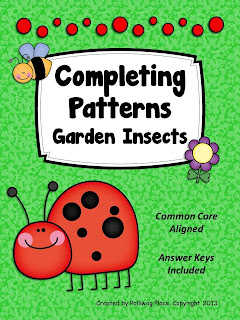 Completing Patterns Activity Set by Polliwog Place