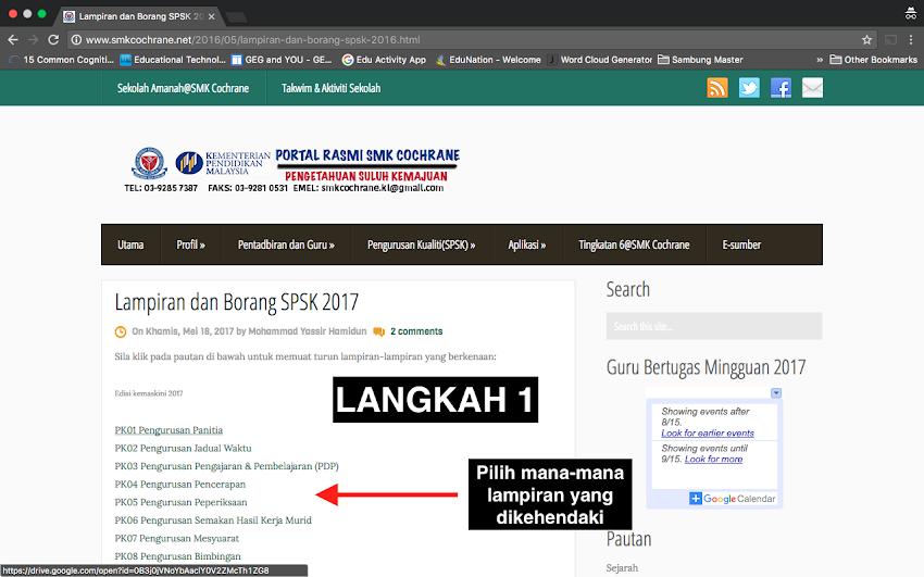 Lampiran dan Borang SPSK 2017