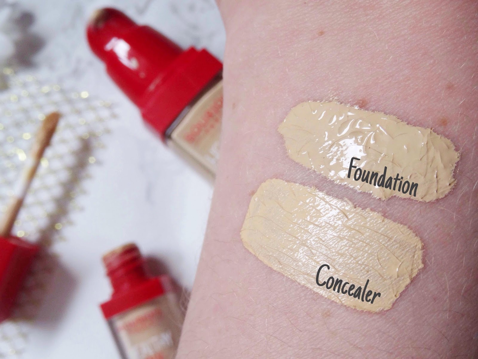 Bourjois Healthy Mix Foundation and Concealer Light Swatches
