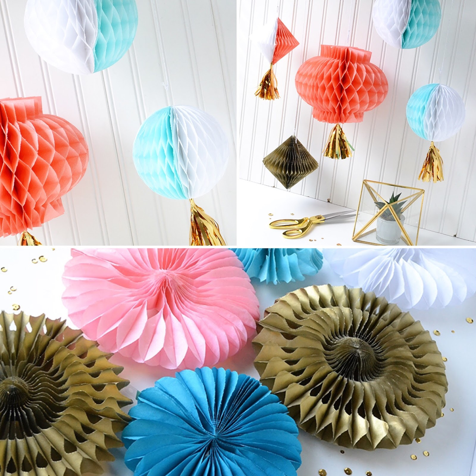 aly dosdall: honeycomb paper party decorations