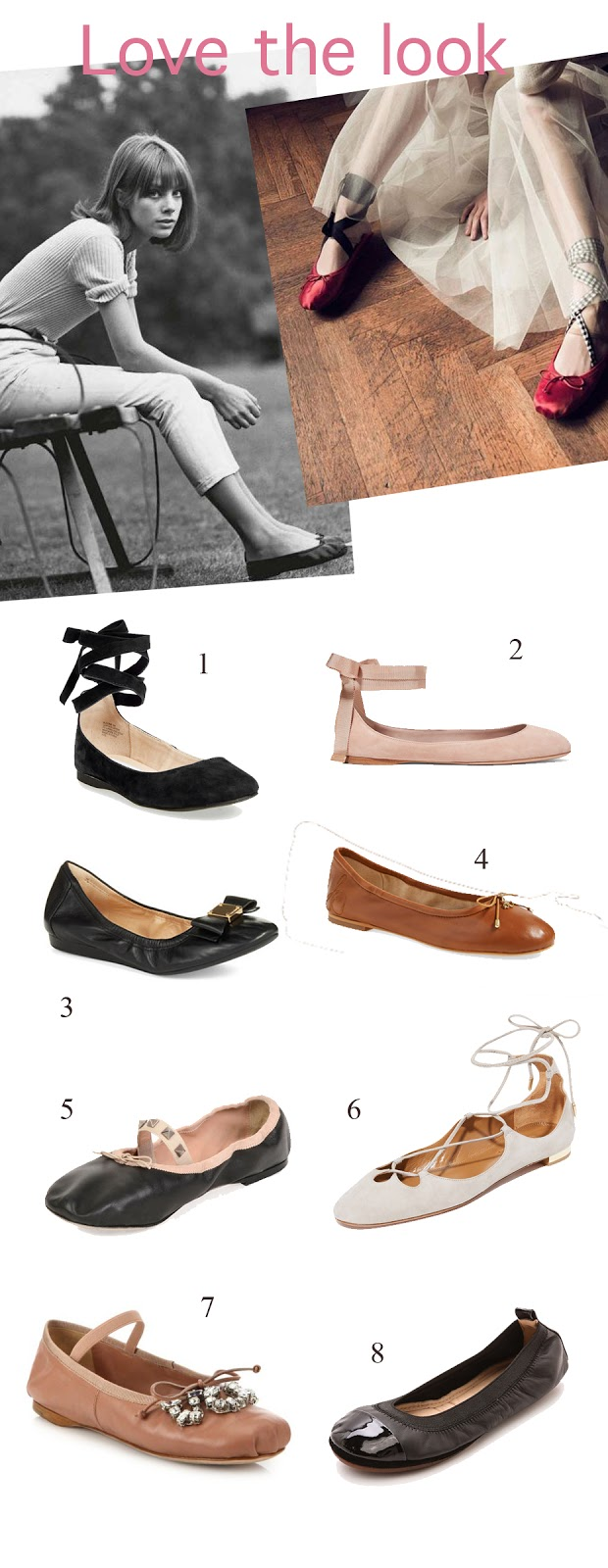 Love the look - the ballet flat