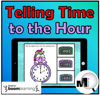 https://www.teacherspayteachers.com/Product/Telling-Time-to-the-Hour-Boom-Cards-3849987