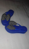 Sandal Japit Pita Polkadot (Kerajinan Tasikmalaya)
