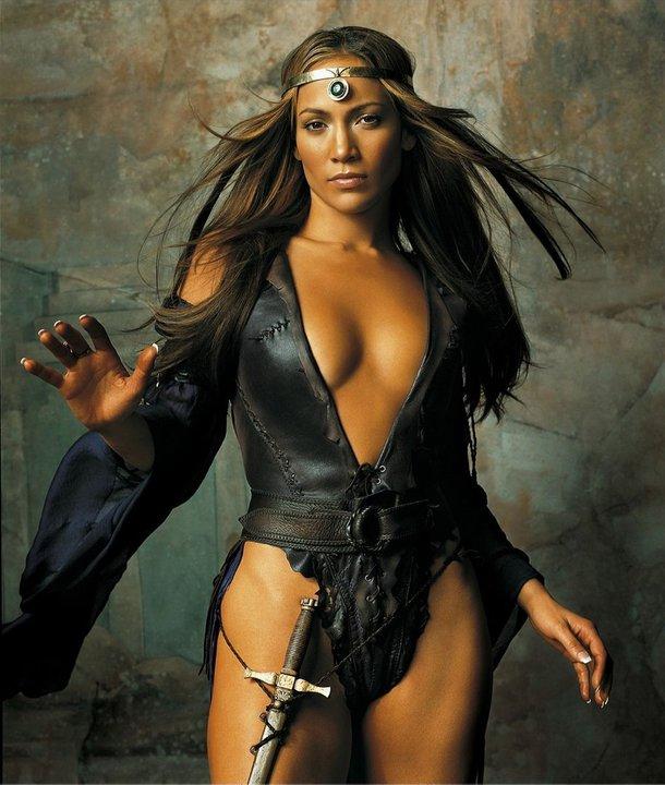 Jennifer Lopez hot legs, Jennifer Lopez as warrior, Jennifer Lopez sexy pics
